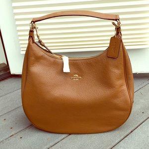 Coach Hobo Tan Pebbled Leather Bag *NEW*